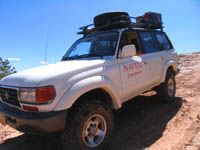Toyota Landcruiser on Salt Valley 4X4 trail