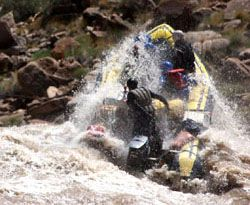 Big whitewater in Cataract Canyon