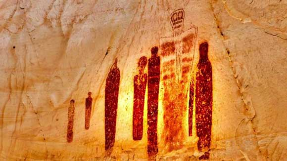 Holy Ghost pictograph, Great Gallery, Horseshoe Canyon Utah
