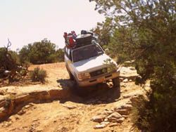 Toyota Landcruiser going through teapot canyon