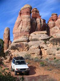four wheel drive trail in the Needles