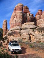 Toyota Landcruiser in the Needles District