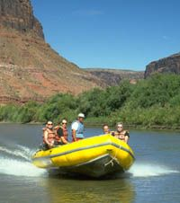 Rhib cruising on Colorado River