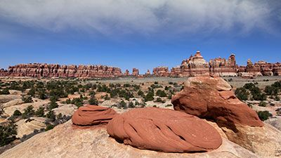 hiking in canyonlands needles