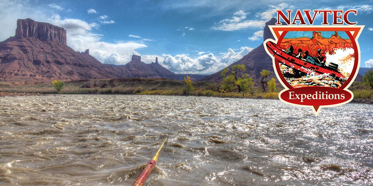 Oarboat rafting the Colorado River near Moab Utah
