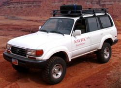 Toyota Landcruiser across the Green River Desert