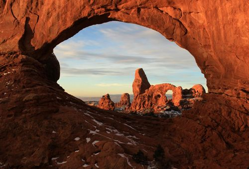 Turret Arch through the North Window Arches National Park tour
