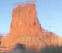 Tower Reflection on the Colorado River