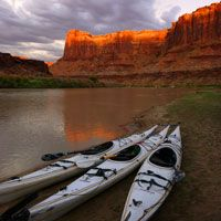 sea kayaking on the Green River