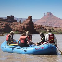 paddle rafting on the colorado river river