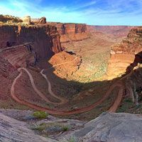 Shaefer Trail in Canyonlands National Park