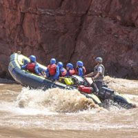 white water rhib uprunning the colorado